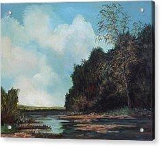 Beside Still Waters Acrylic Print by Sharon Steinhaus