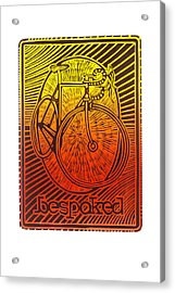Bespoked Bicycle Linocut Acrylic Print by Mark Howard Jones