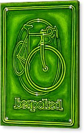 Bespoked In Lime  Acrylic Print by Mark Howard Jones