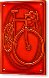 Bespoked In Orange  Acrylic Print by Mark Howard Jones
