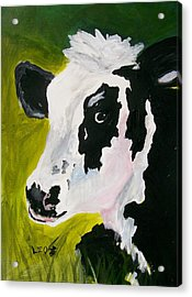 Bessy The Cow Acrylic Print by Leo Gordon