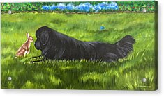 Acrylic Print featuring the painting Best Buddies by Sharon Nummer