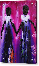 Best Friends Forever - Bff Love And Devotion Art Acrylic Print by Sharon Cummings