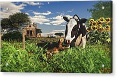 Best Friends Forever  Acrylic Print by Mary Almond