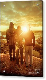 Best Friends Greeting The Sun Acrylic Print