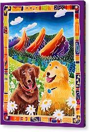Best Friends Acrylic Print by Harriet Peck Taylor