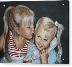 Acrylic Print featuring the painting Best Friends by Joni McPherson