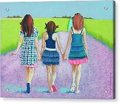 Best Friends Acrylic Print by Tracy L Teeter