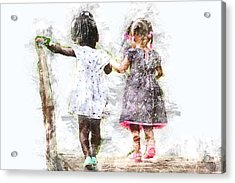 Best Friends Acrylic Print