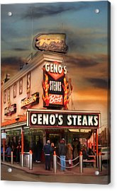 Best Steaks In Town Acrylic Print by Lori Deiter