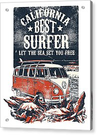 Acrylic Print featuring the digital art Best Surfer by Christopher Meade