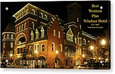 Best Western Plus Windsor Hotel - Christmas -2 Acrylic Print