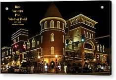 Best Western Plus Windsor Hotel - Christmas Acrylic Print