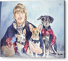 Beth And Her Babies Acrylic Print