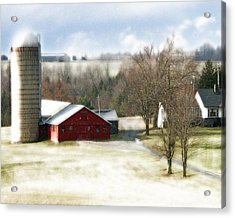 Acrylic Print featuring the photograph Bethel Barn by Tom Romeo