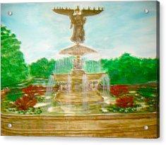 Bethesda Fountain Central Park Acrylic Print