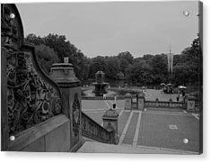 Bethesda Fountain Steps Acrylic Print