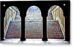 Bethesda Terrace Arcade Acrylic Print by Suzanne Stout