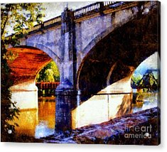 Acrylic Print featuring the photograph Bethlehem Pa Bridge - Tunnel Vision by Janine Riley