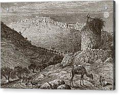 Bethlehem, Palestine, Seen From The Acrylic Print