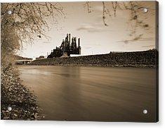 Bethlehem Steel Along The Lehigh Acrylic Print