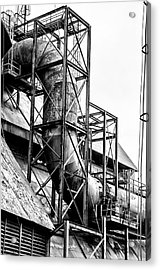 Bethlehem Steel - Black And White Industrial Acrylic Print by Bill Cannon