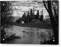 Bethlehem Steel Bw Acrylic Print