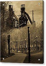 Bethlehem Steel Mill Acrylic Print by Luis Lugo