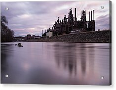 Bethlehem Steel Sunset Acrylic Print by Jennifer Ancker
