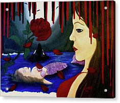 Acrylic Print featuring the painting Betrayal by Teresa Wing