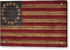 Betsy Ross American Flag Barn Acrylic Print by Dan Sproul