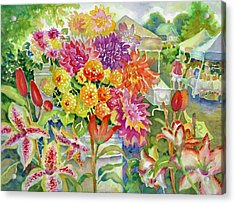 Betsy's Dahlias II Acrylic Print