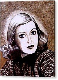 Bette Davis 1941 Acrylic Print by Tara Hutton