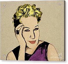 Bette Midler Acrylic Print