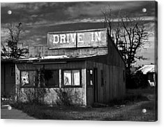 Better Days - An Old Drive-in Acrylic Print