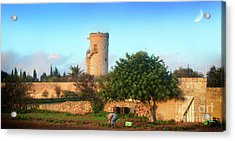 Bettina Tower In Gudja Acrylic Print by Stephan Grixti