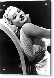 Betty Grable In The 1930s Acrylic Print by Everett