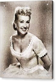 Betty Grable, Vintage Hollywood Legend Acrylic Print by John Springfield