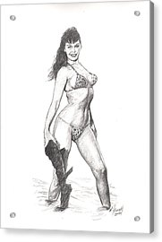 Betty Jungle Girl Acrylic Print by Will Brown