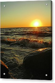 Between A Rock And A Sunny Place Acrylic Print by Peter Mowry