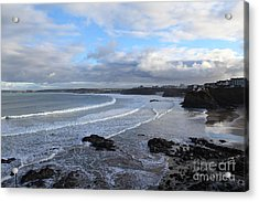 Acrylic Print featuring the photograph Between Cornish Storms 2 by Nicholas Burningham