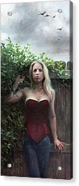 Between Fences And Freedom Acrylic Print by Anna Rose Bain