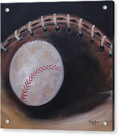 Between Innings Acrylic Print by Judith Rhue