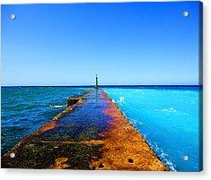 Between Ocean And The Sea Acrylic Print by Yury Bashkin