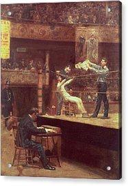 Between Rounds Acrylic Print by Thomas Cowperthwait Eakins