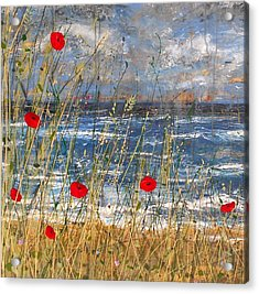 Between The Crosses Detail Acrylic Print