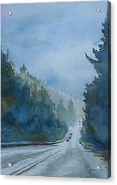 Between The Showers On Hwy 101 Acrylic Print