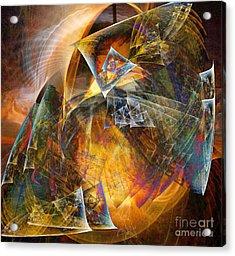 Between The Worlds 12 Acrylic Print by Helene Kippert