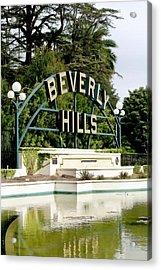 Beverly Hills Reflection Acrylic Print