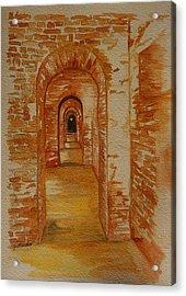 Beyond The Black Door Acrylic Print by Julie Lueders